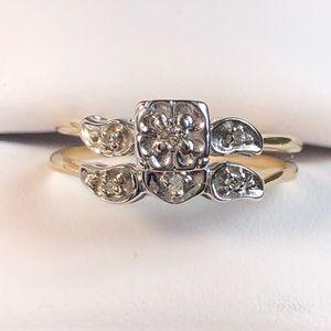 Jewelry - 14K Yellow Gold Diamonds Wedding Set
